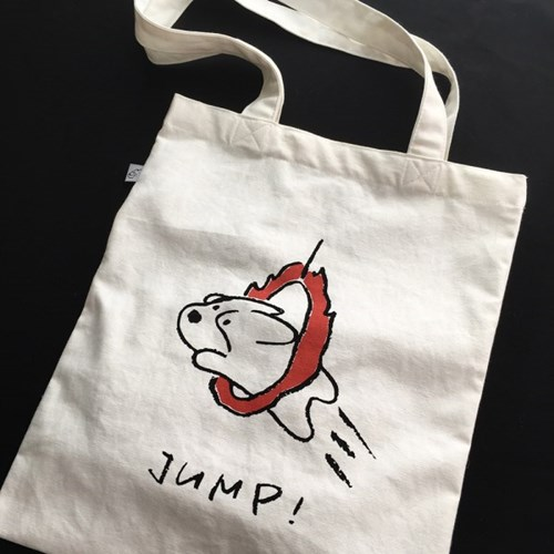 Jump Corgiman Cotton Bag