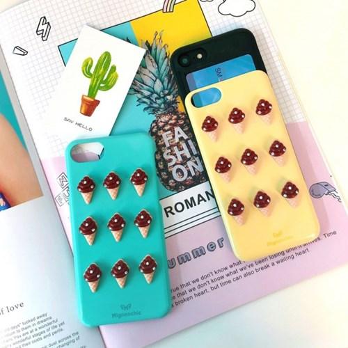 CHOCO ICE CREAM 아이폰 카드수납케이스