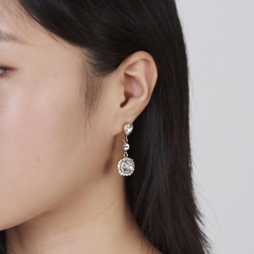 엔틱 드랍 사각 귀걸이