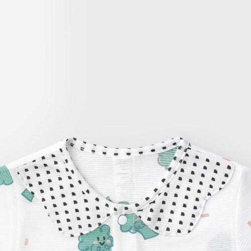 [메르베] 브로콜리 신생아우주복/아기우주복_여름용(7부_(1226508)