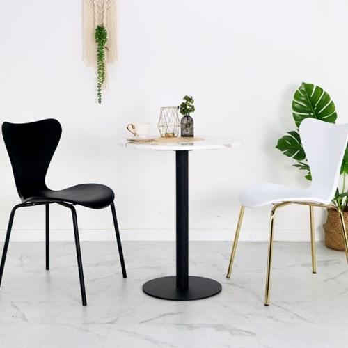 대리석 테이블세트 2인용 원형식탁 카페티테이블 대리석식탁