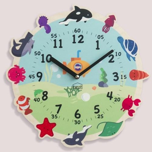 [BEZIT] 원더타임시리즈 바다탐험대 무소음 벽시계