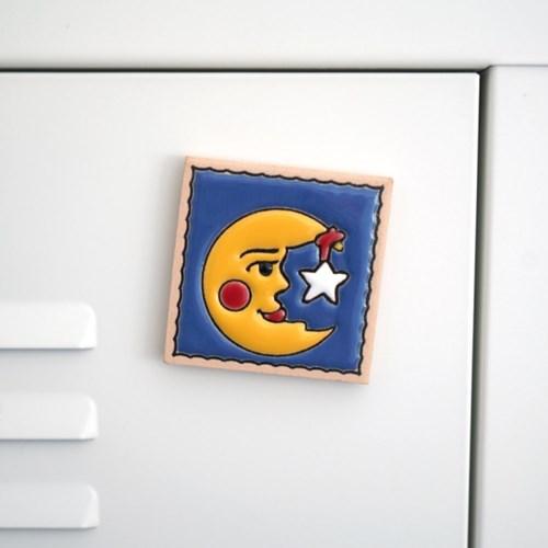 스페니쉬 타일 냉장고 자석 스페인 마그넷 - 나이트 문