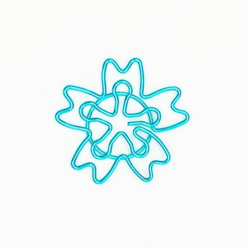 에메랄드 꽃잎 페이퍼클립 3PIECES