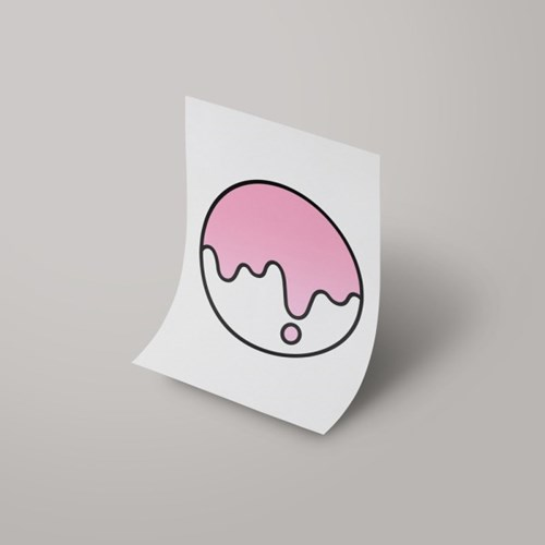 [A3 아트포스터] Signature Logo_ 침착한 핑크(Calm Pink)