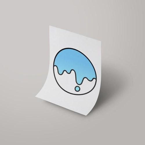 [A3 아트포스터] Signature Logo_ 크리미스카이블루 Creamy Skyblue