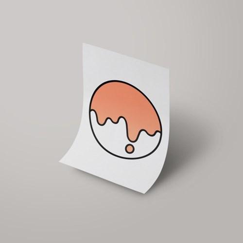 [A3 아트포스터] Signature Logo_ 수줍은 샐몬(Shy Salmon)