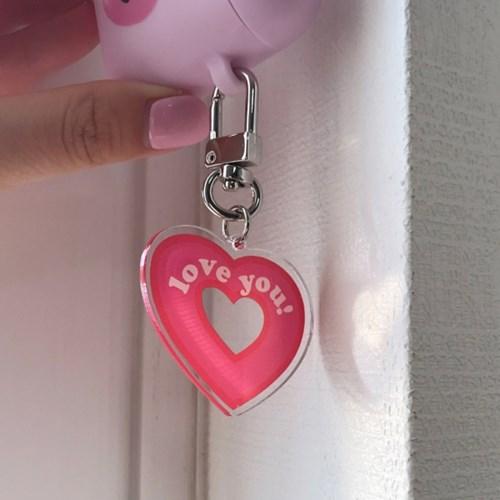 [뮤즈무드] heart key ring (키링)