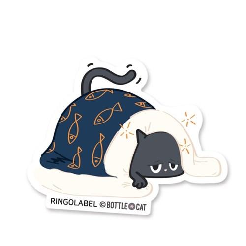 링고라벨-보틀캣 바트졸려 캐리어스티커 노트북스티커