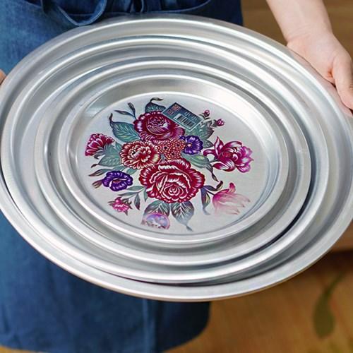 알럽하우스 추억의 양은 꽃 쟁반 28cm(소) 1P_(1226524)