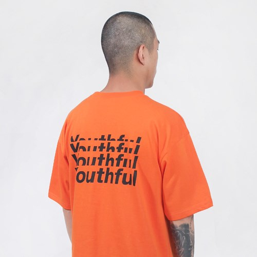 YTFL T-SHIRT-NEON ORG