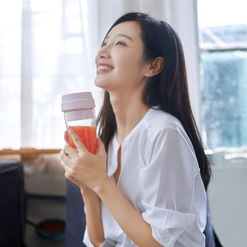 샤오미 휴대용 믹서 유리텀블러 400ml 17pin_(1245847)