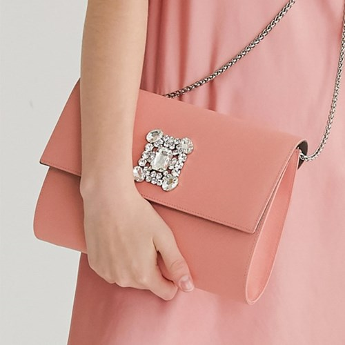 LOVE CHAMR_ Jewel Cluch (Coral Pink)