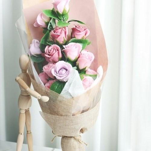 장미 15송이 비누꽃 꽃다발(2color)_(1598772)