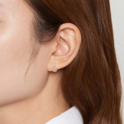 [925실버] 실버 미니 꼬임 귀걸이