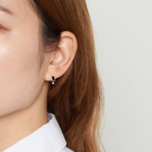 [925실버] 실버 바 미니원터치 귀걸이