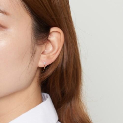 [925실버] 실버 진주 미니원터치 귀걸이