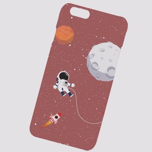 HH194 우주인과 행성 버건디 하드케이스
