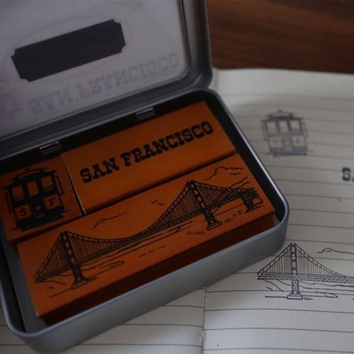 Cavallini 미니스탬프세트-San Francisco