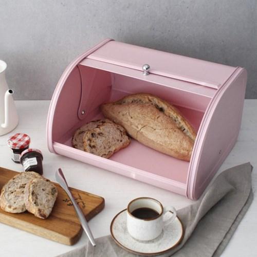 핑크 파스텔 틴 브레드 박스_(1600258)