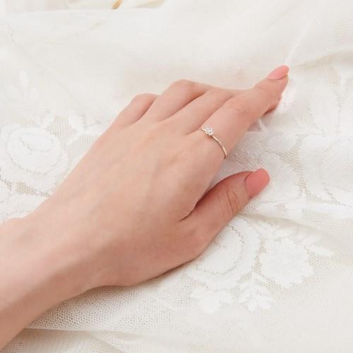 [925 실버] 나뭇잎 슬림 반지