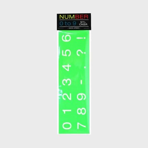 Number 0 to 9 Sticker 숫자스티커 (네온)