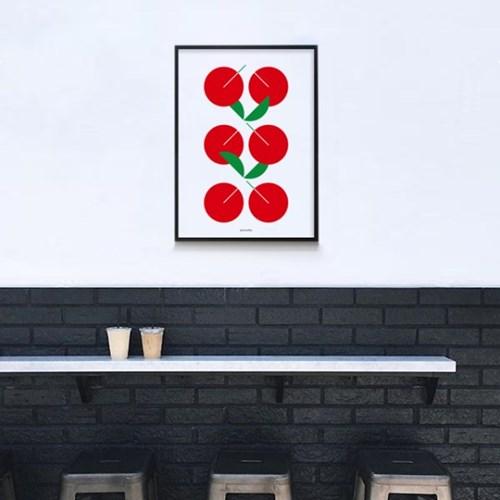 유니크  인테리어  디자인 포스터 M 콤포지션5 체리