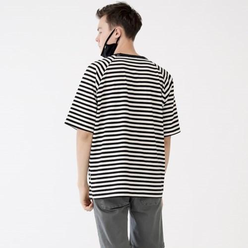 스웩버 3512-스트라이프(블랙)_오버핏 티셔츠_(2372780)