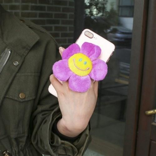 스마일 꽃 인형 스마트 폰 톡 그립 링 8color! 핸드폰 휴대폰 인싸꽃