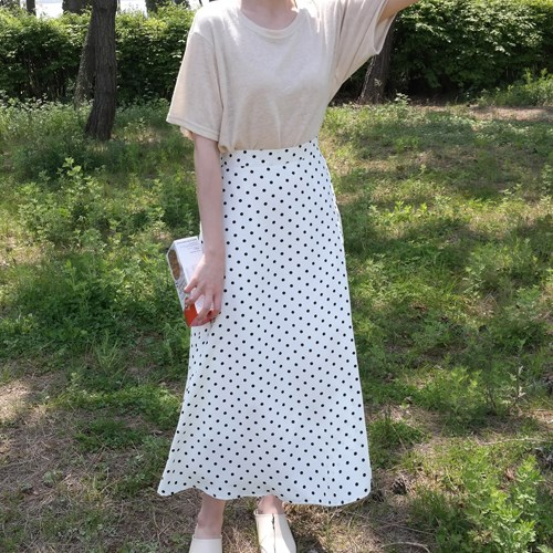 kara dot long skirt