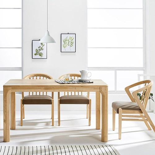 [데코마인] 론디 1400 4인식탁세트 일반의자형(식탁+쿠션체어4)