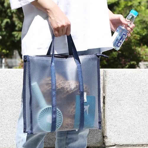 여행 여름휴양지 목욕 수영가방 PVC 방수 투명비치백_(1030158)