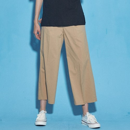 SUMMER WIDE COTTON PANTS_BEIGE