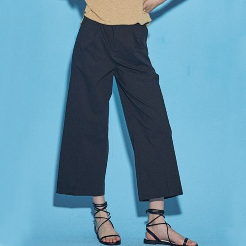 SUMMER WIDE COTTON PANTS_BLACK