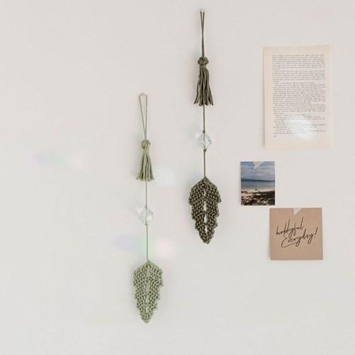 hobbyful 초록잎 선캐처 마크라메 클래스