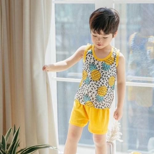 호피파인 민소매 아동 실내복