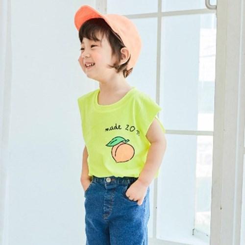 피치네온 아동 나시 티셔츠