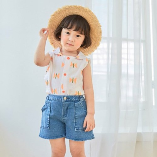 리본나비 아동 나시셔츠