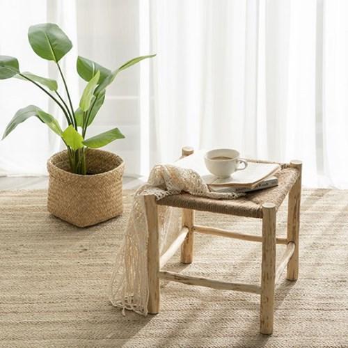 우드 라탄 사이드 테이블