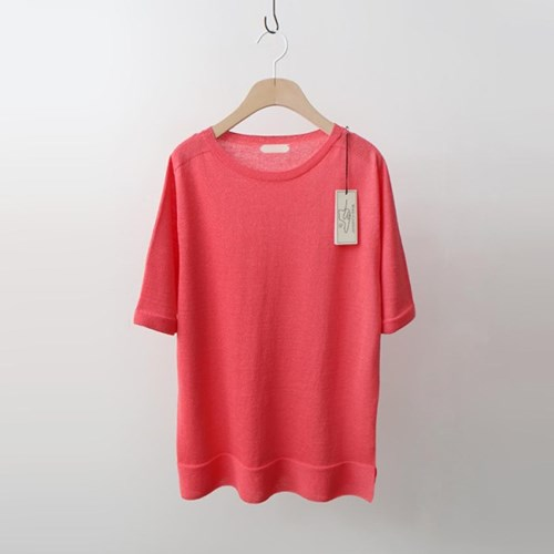 Hoega Linen Round Knit - 반팔