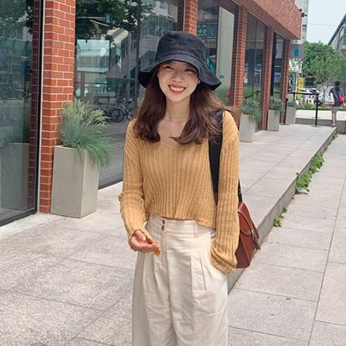 Summer golgi v-neck knit_B