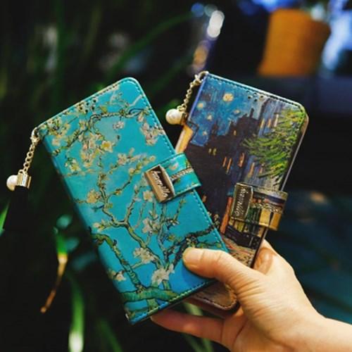 LG X6 2019 (LG X625) Encanto-Obra-T 지퍼 지갑 다이어리 케이스