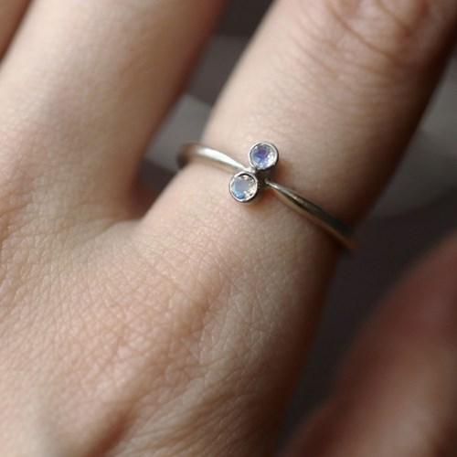 [normaldott] Moon bouquet silver ring | type 2