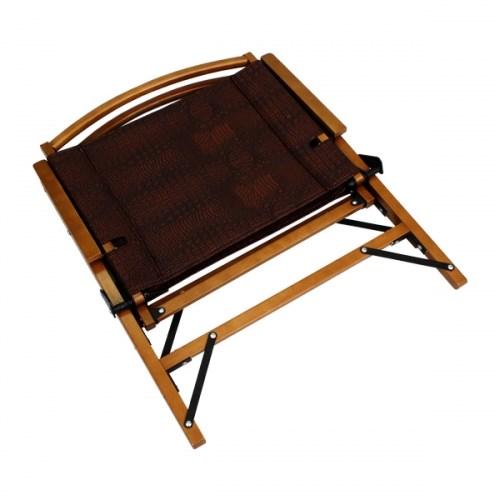아베나키 크로커다일체어 - 플랫 우드체어 캠핑의자