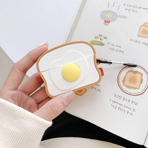 토스트 계란후라이 에어팟/에어팟 프로 케이스