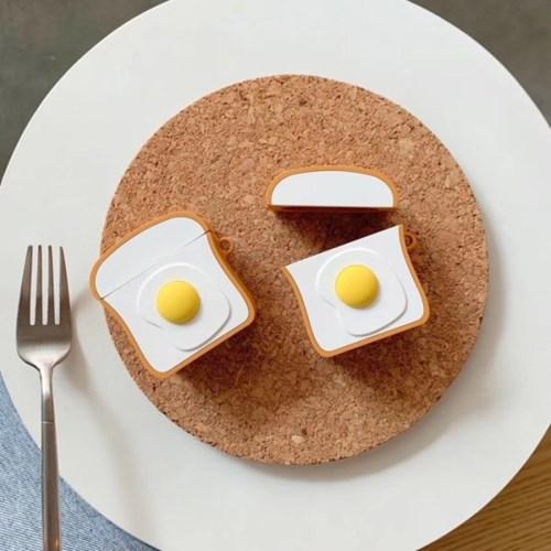 토스트 계란후라이 에어팟 케이스