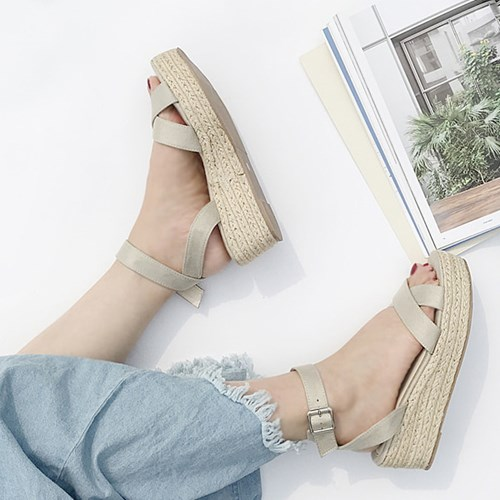 kami et muse Ankle strap espadrille wedge sandals_KM19s266