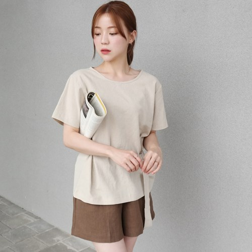 Linen belt blouse(린넨60%)