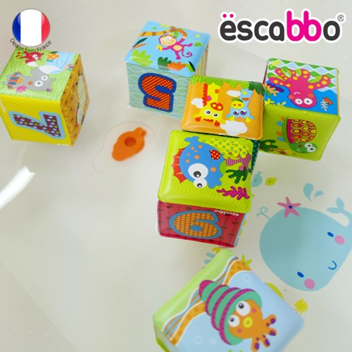 [ESCABBO]에스까보 말랑말랑 큐브 목욕놀이 6PCS