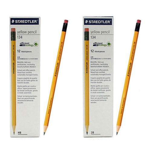 스테들러 옐로우연필 134 1다스 12자루 고급연필세트_(1612558)